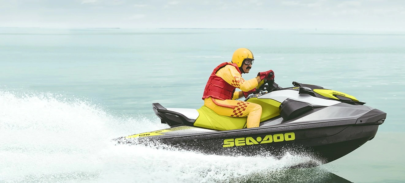 Man riding a Sea-Doo Personal Watercraft