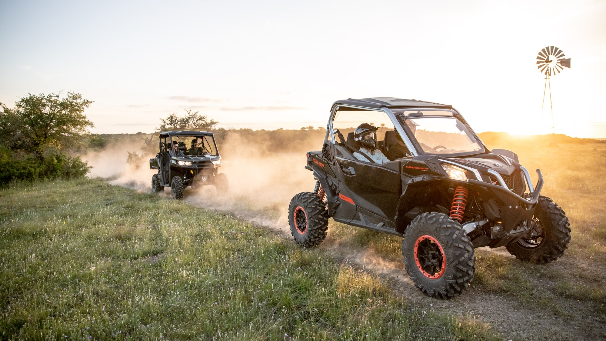Pair of Maverick Sport 2021 Model in a trail