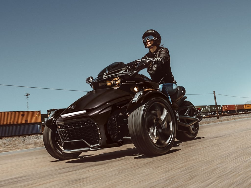 Women riding on Can-Am Spyder F3