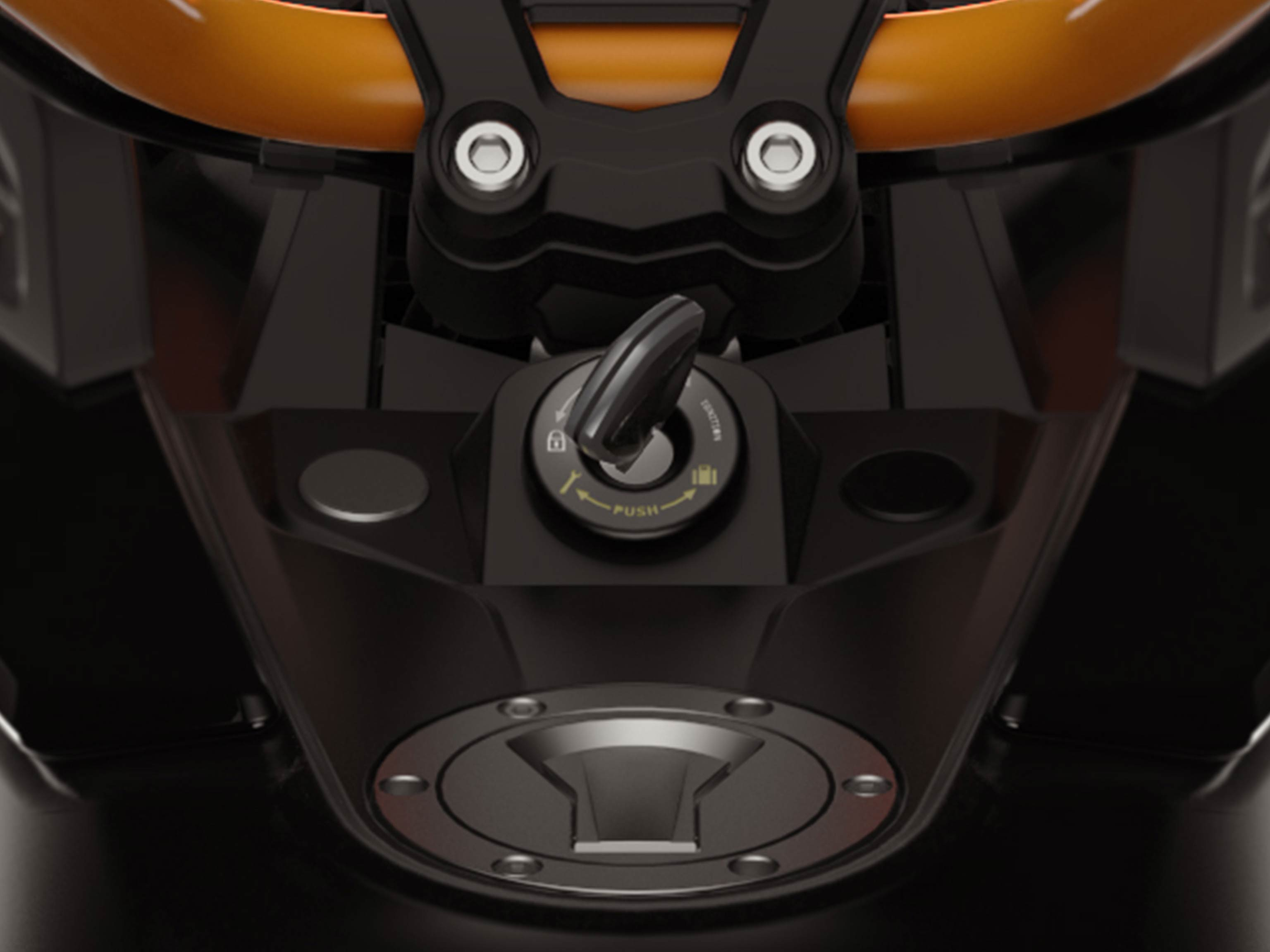 The anti-theft technology on the Can-Am Spyder F3
