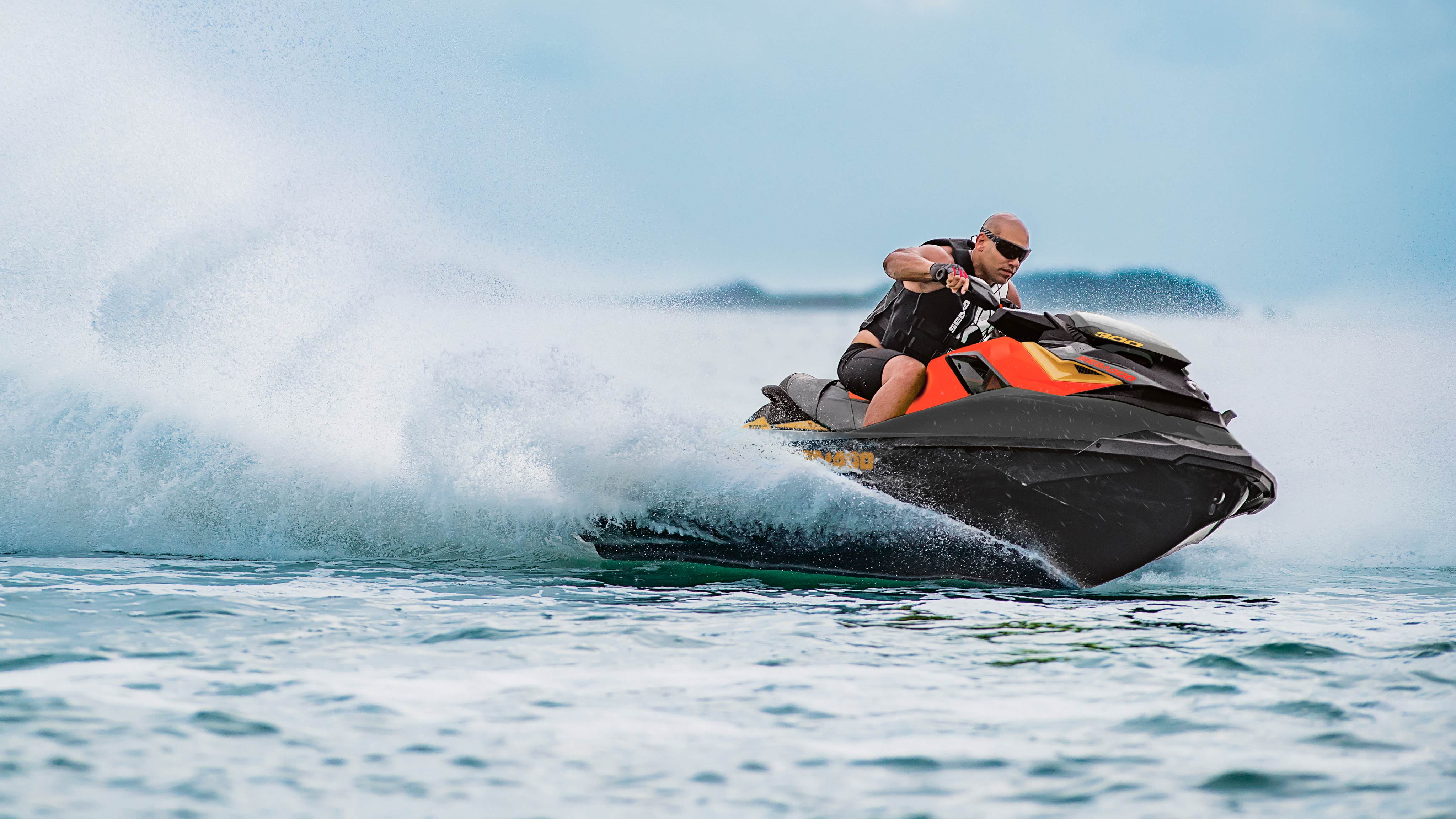 Man driving his Sea-Doo RXP-X 300