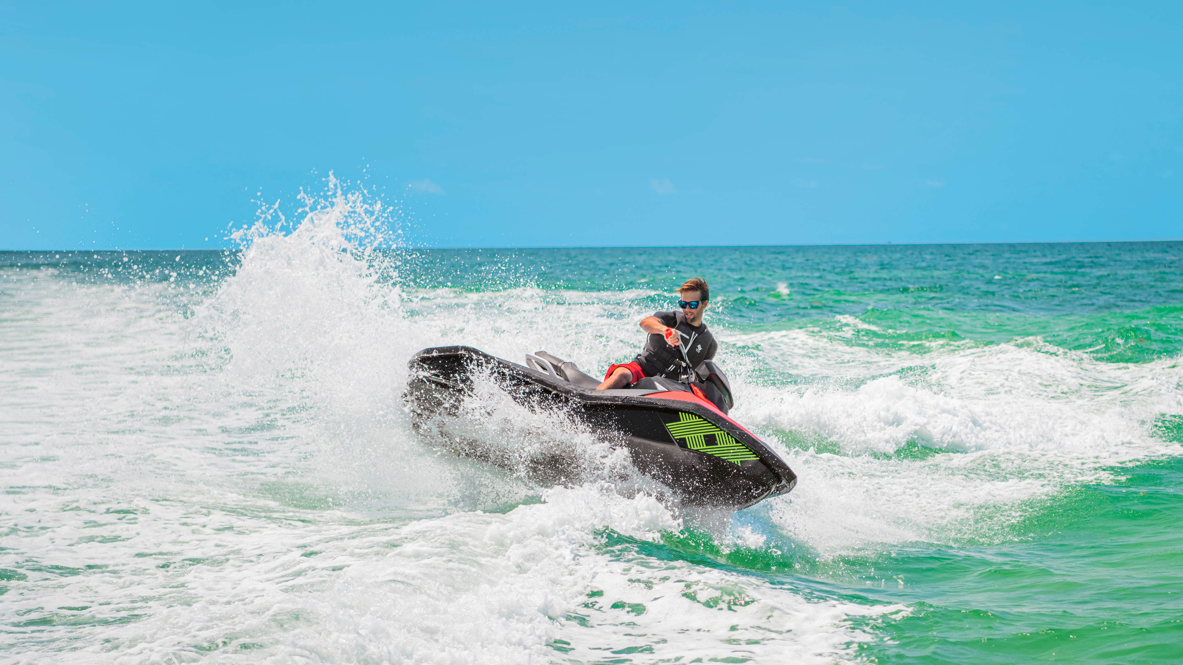 Man doing a U-turn with his Sea-Doo Spark Trixx
