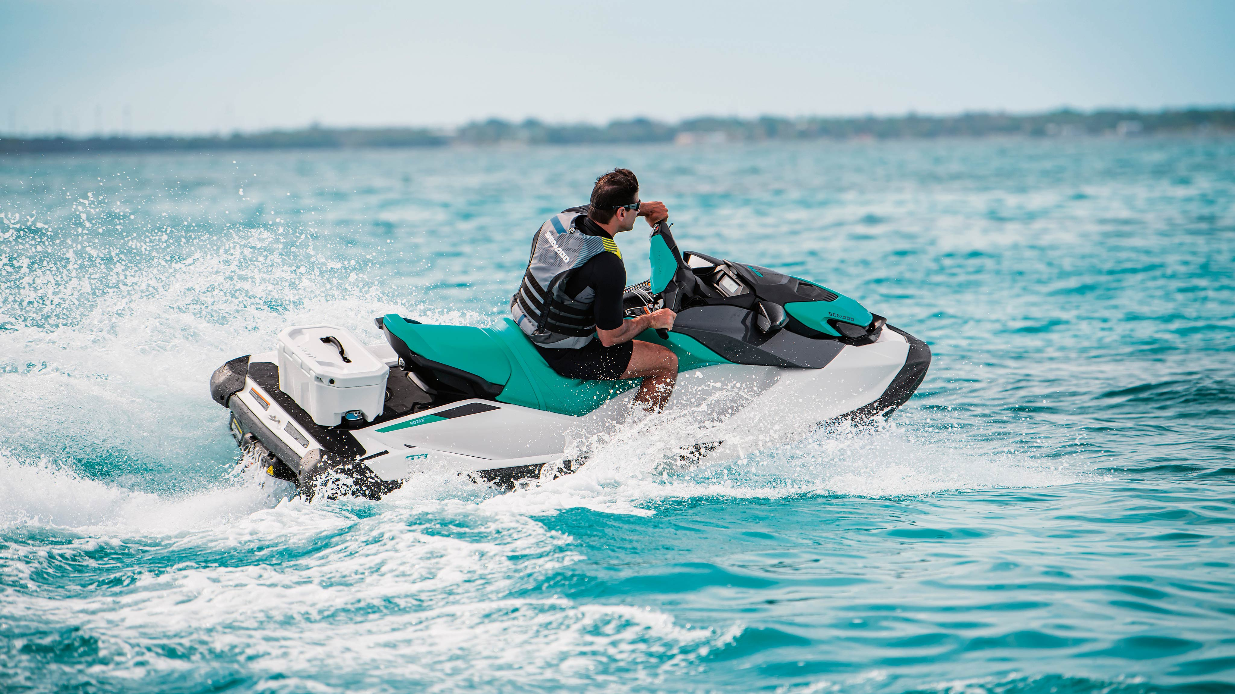 Man riding his Sea-Doo GTI