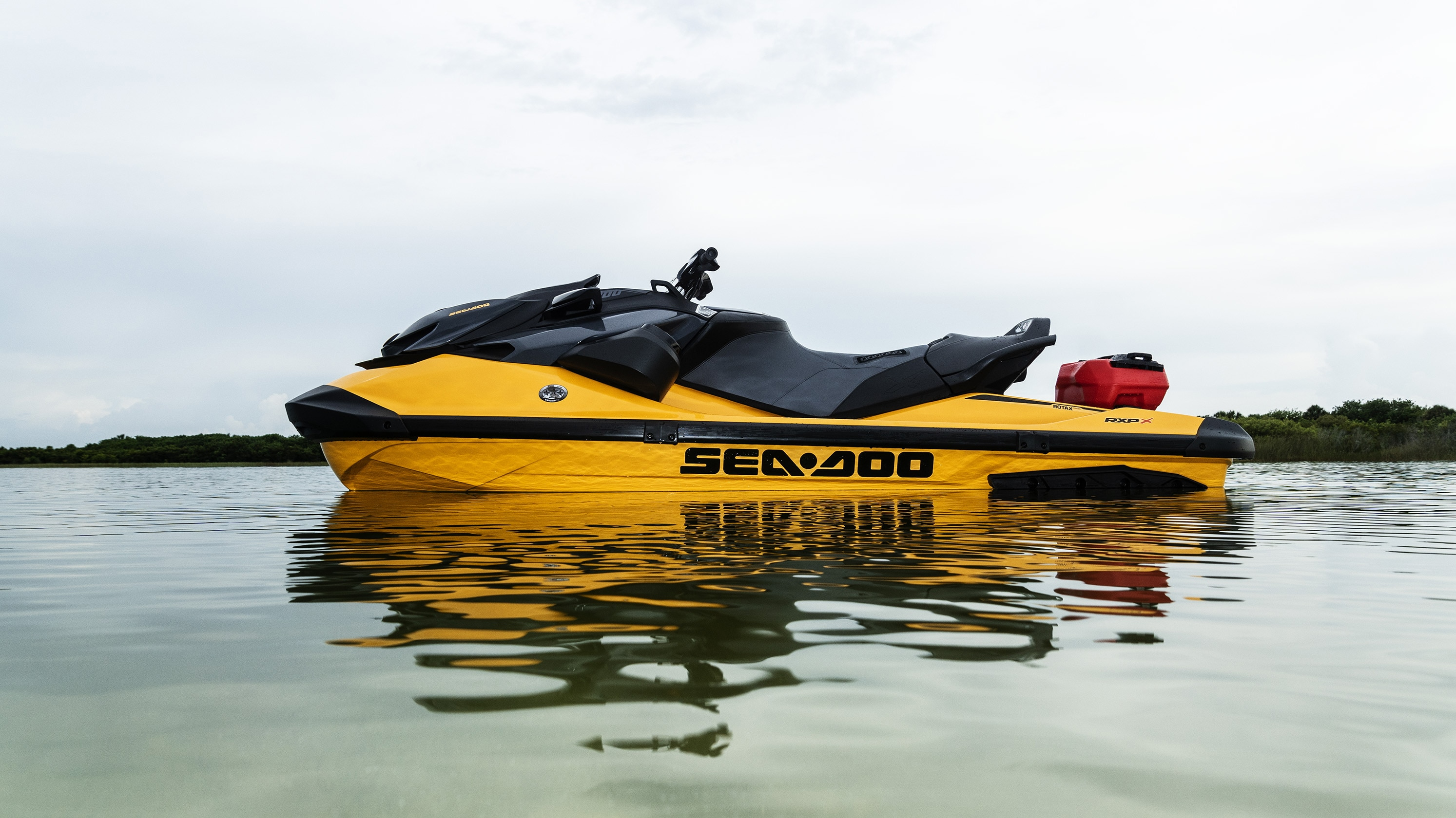Sea-Doo RXT-X parked in the water