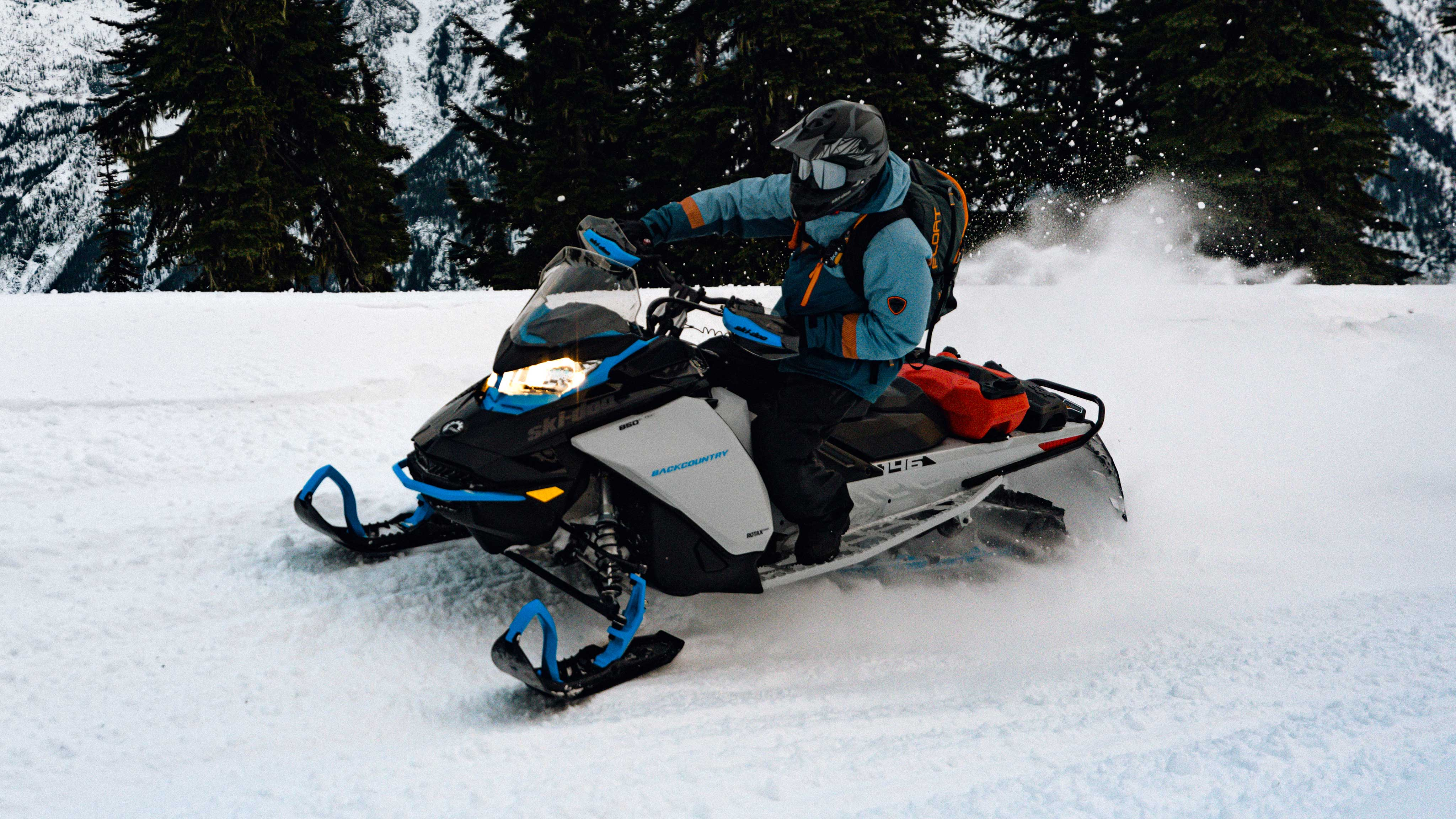 Man riding 2022 Ski-Doo Backcountry on a trail