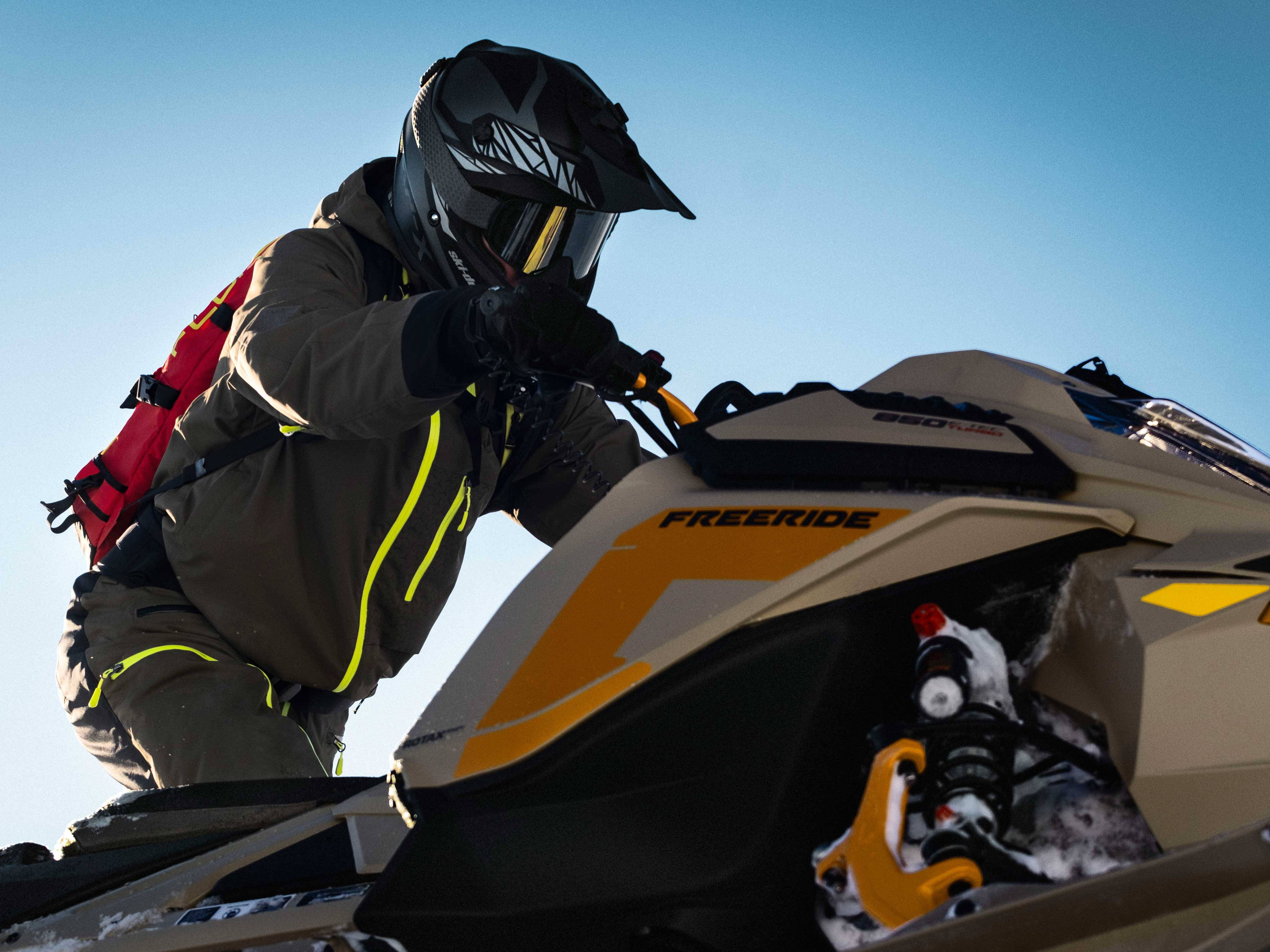 Rider and his 2022 Ski-Doo Freeride