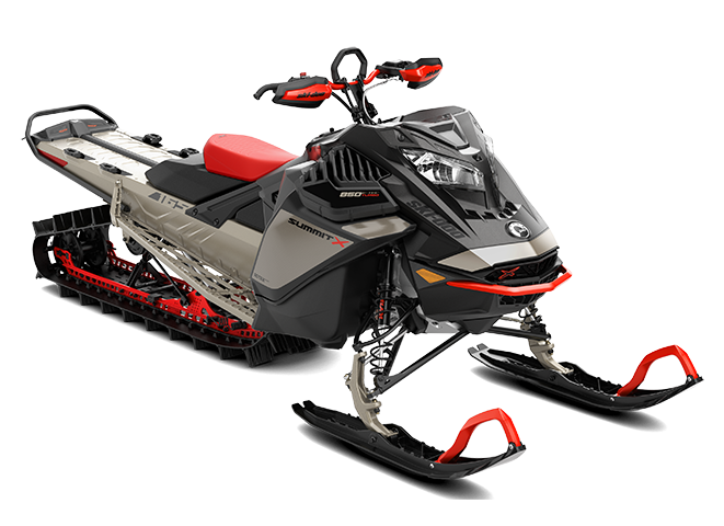Ski-Doo Summit with Expert Package - 165 - 850 E-Tec Turbo Titan - Lava Red and Black