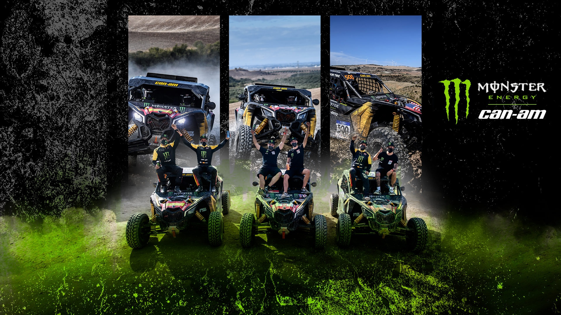Team monster energy can-am at dakar 2021 race
